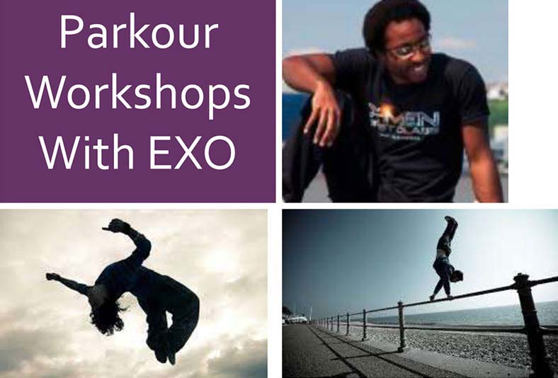 parkour workshops with exo